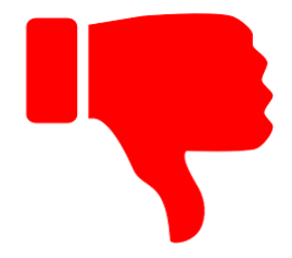 leaders fear of criticism not like icon red thumbs down