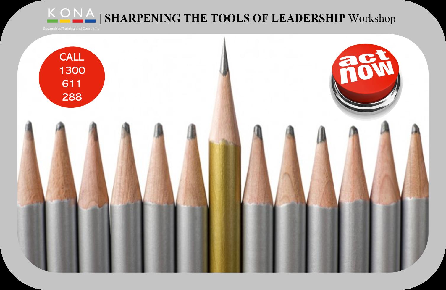 KONA Group | SHARPENING THE TOOLS OF LEADERSHIP Workshop