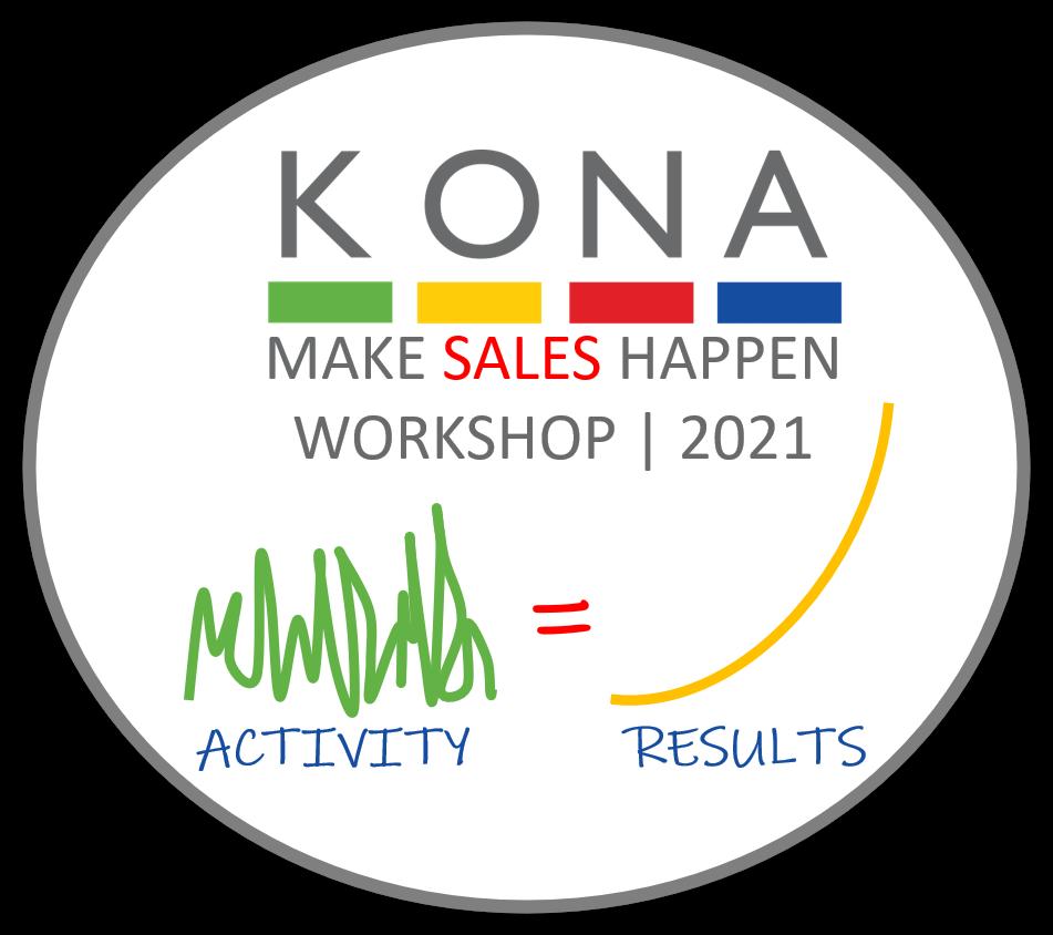 make sales happen workshop image kona group training activity equals results