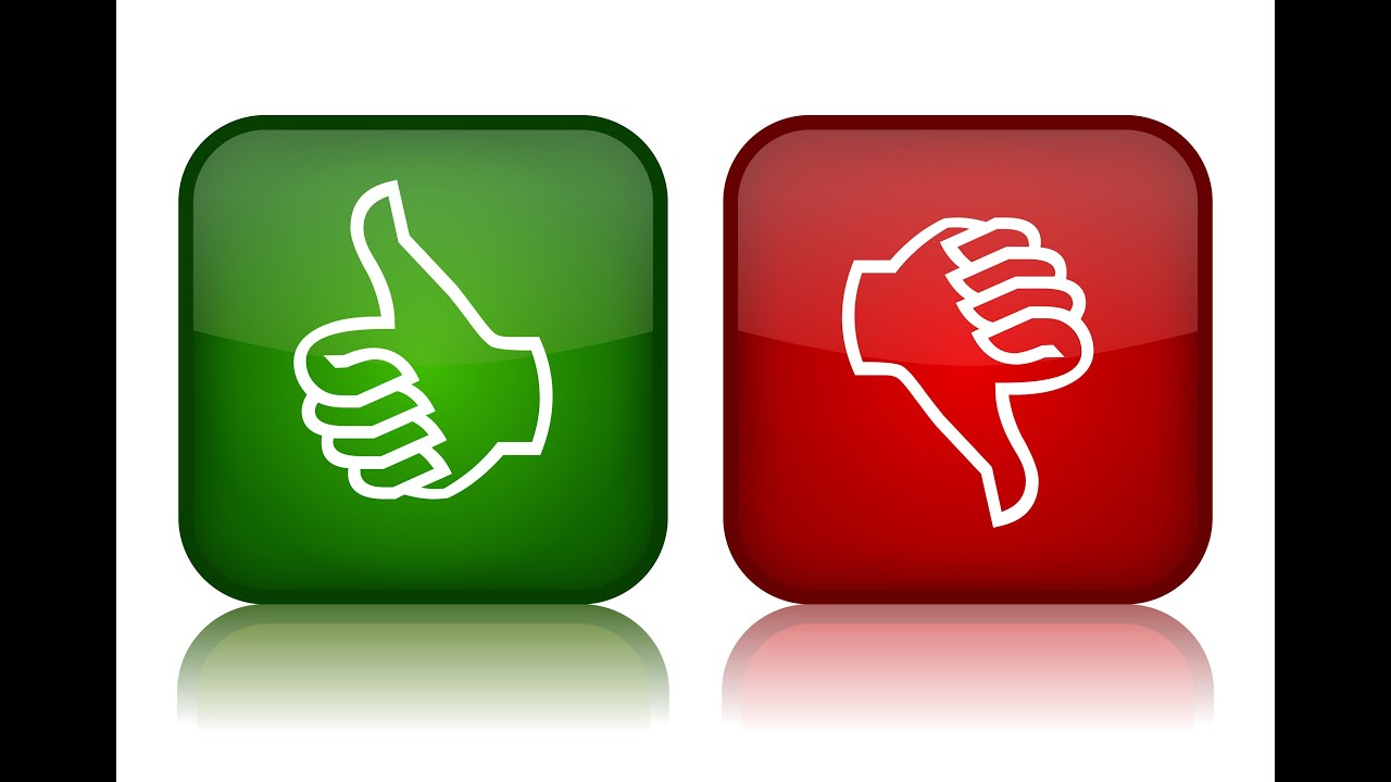 thumbs up thumbs down icons for blog on Sales Team Independent Reports